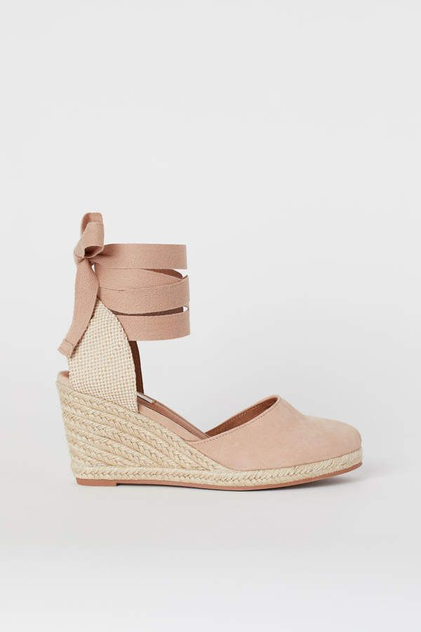 9afd70822c1 H&M Suede Sandals - Beige in 2019 | Products | White espadrille ...