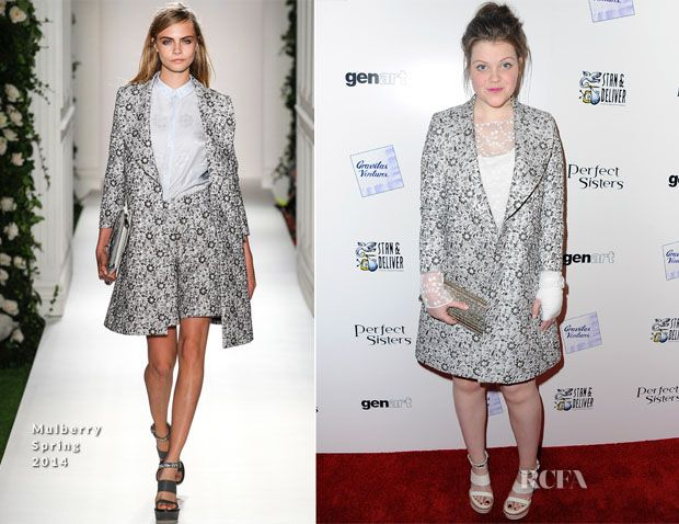 Georgie Henley In Mulberry – 'Perfect Sisters' LA Premiere