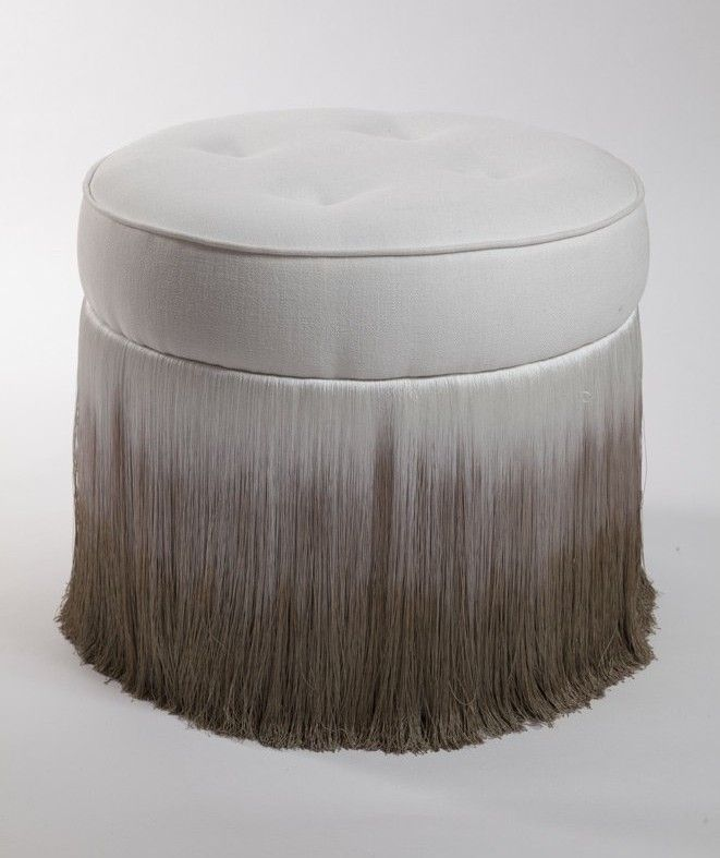 CHIARO SCURO OTTOMAN http://spinadesign.co.uk/footstools-fringing-and-occasional-furniture/footstools/chiaro-scuro-ottoman.html