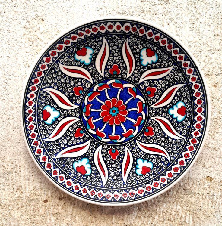 Hand Made Turkish Ceramic Plate / Wall Decor / iznik by Turqu50