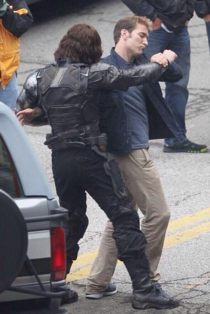 """-""""Bucky let us dance.""""-  I am cracking up so bad right now.<<<<<---- CHIS FACE Hahahaha"""