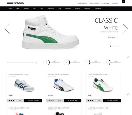 Whity Ecommerce Free #Responsive #HTML5 #CSS3 #Mobileweb Template