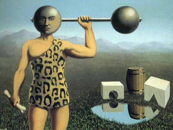 Reproduction de Magritte, Le mouvement perpétuel. Tableau peint à la main dans nos ateliers. Peinture à l'huile sur toile.
