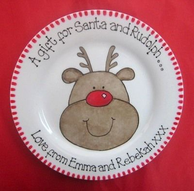 Mince Pie Plate - Rudolph