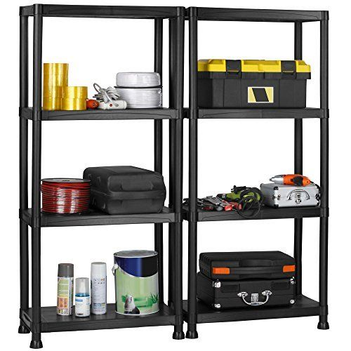 VonHaus Pack of Two 4 Tier Black Plastic Shelving Units: Free 2 Year Warranty - 132 x 61 x 30.5cm: Free Wall No description (Barcode EAN = 5060351497510). http://www.comparestoreprices.co.uk/december-2016-6/vonhaus-pack-of-two-4-tier-black-plastic-shelving-units-free-2-year-warranty--132-x-61-x-30-5cm-free-wall.asp