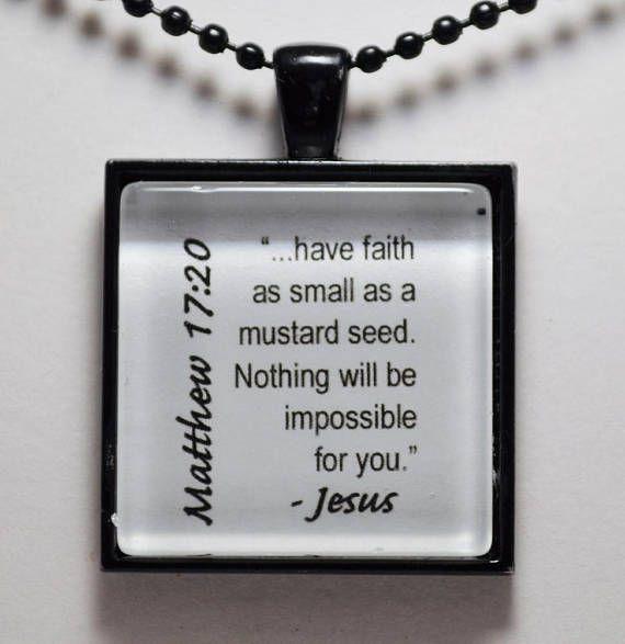 Matthew 17:20 Mustard Seed Faith Pendant Christian Jewelry C L Murphy Creative CLMurphyCreative CL Murphy Creative