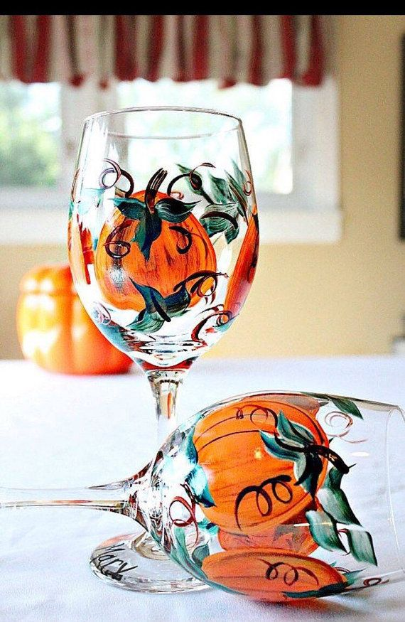 Best ideas about fall wine glasses on pinterest