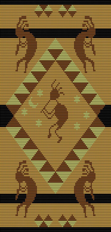 Wayuu Mochila pattern kokopelli