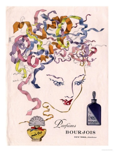 Totally digging this Bourjois Mais Oui, Womens, USA, 1930 reproduction print.