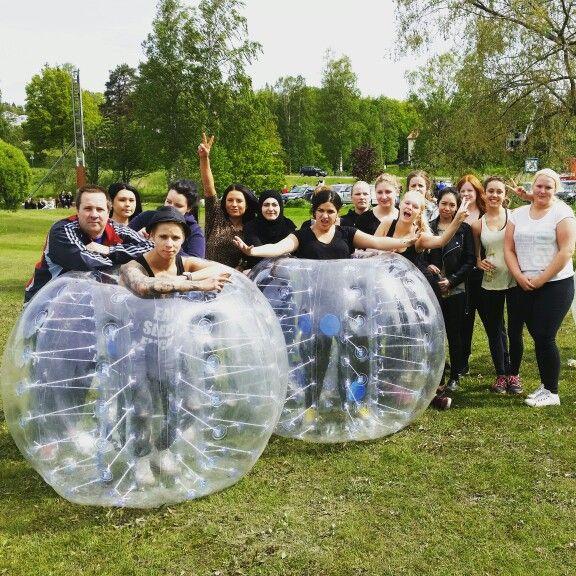 HA-programmet på #VBU #Ludvika körde #bumperballs med oss idag. Vi håller till i Ludvika i södra #dalarna. Ni kan boka oss till tex #klassavslutning #idrottsföreningen eller #klassfest. Www.escape-event.com.. lycka till i framtiden HA elever