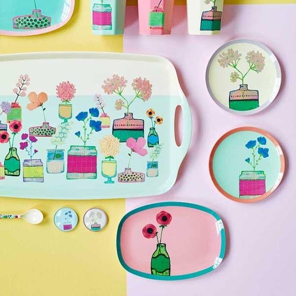 Dienblad Flower Display | Rice - Madame La Poule