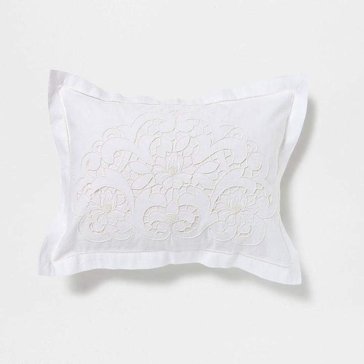 Flowers Open Embroidery Pillow