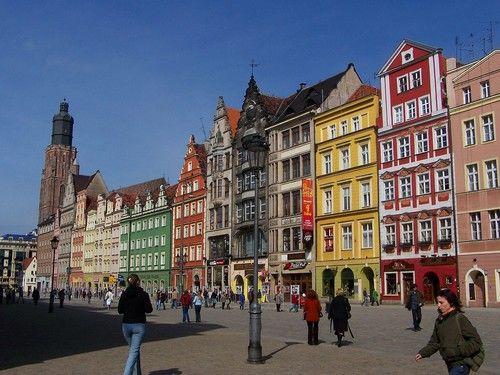 la #place du marché de #Wroclaw en #Pologne                                                                                                                                                     Plus