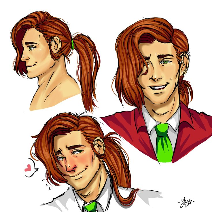 """tashaquekaysha: """"sometimes i start thinking of elliott putting his hair up in a ponytail and i dig it please excuse the messiness, it was a quick doodle. thinking of possibly making proper art of..."""