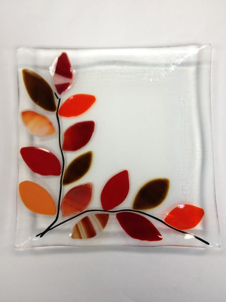 autumn fused glass - Google Search