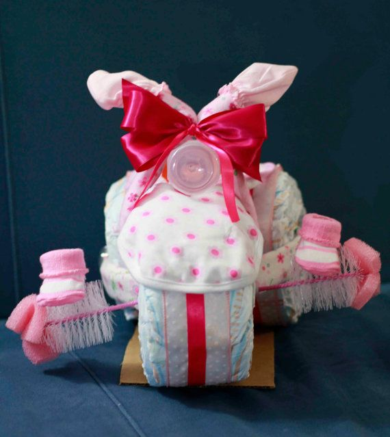Top 25 ideas about diaper bouquet on pinterest baby for Pink diaper bouquet