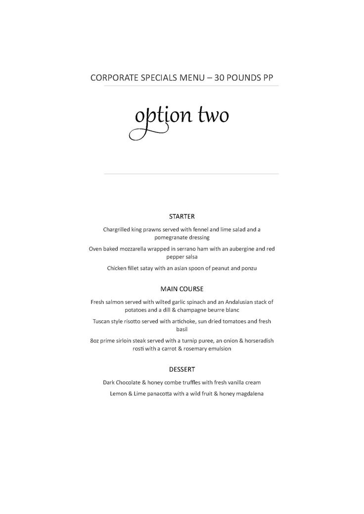 menu for a corporate events - Google Search