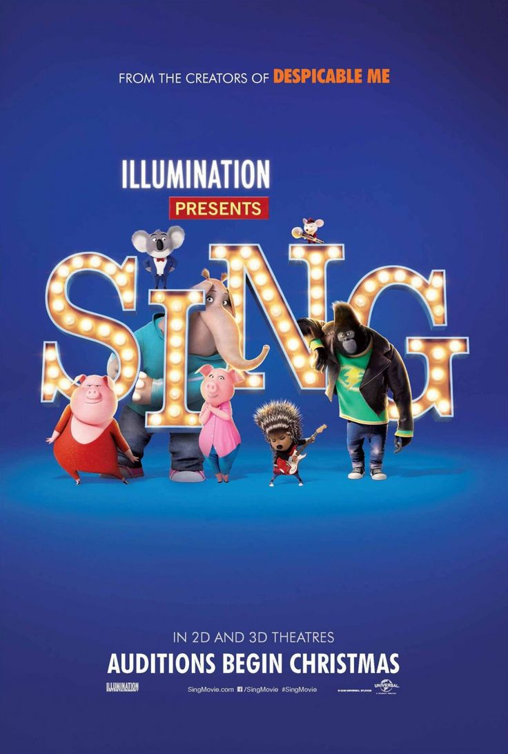 Ive Just Spotted Those Four New Posters Of Illumination Entertainments Sing The Upcoming Animated Comedy Musical Movie Written And Directed By Garth
