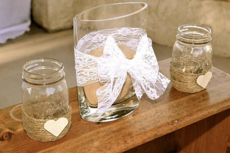 DIY sand ceremony for our wedding.