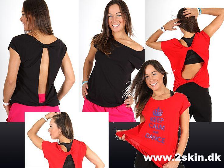 Vi har en fin top i 2 farver, passer perfekt når man danser meget. http://2skin.dk/eshop/t-shirts