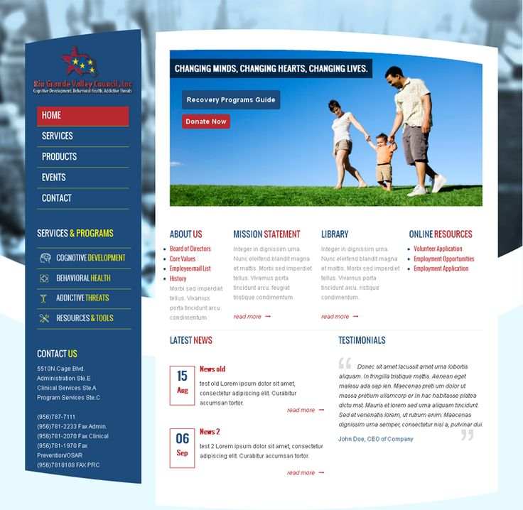 Website Design and Development for Rio Grande Valley Council