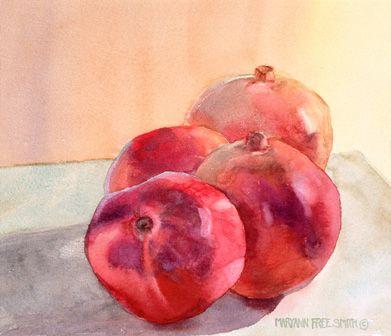Pomegranates by MaryAnn Free Smith