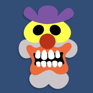 Here's the last new mask in the members area for Halloween 2012. This one's called Smiler... Happy Halloween! Printable Scary Clown Ma...