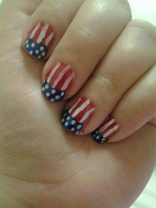 The Glamorous Diy red nail designs Image