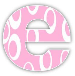 Oh my Alfabetos!: Alfabeto de Minnie Bebe con fondo rosa.