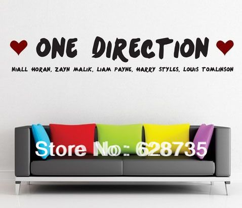 Free Shipping Fashion Large One Direction 1D Wall Stickers , Liam, Harry, Louis, Zayn, Nihall, Bedroom Wall Art,c2014 #Affiliate