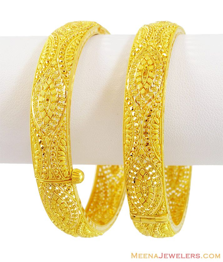 22K Gold Filigree Kadas (1 PC)