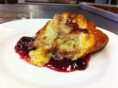 ... blog: hot doughnuts HOW? jelly-doughnut bread pudding. OH. EM. GEE