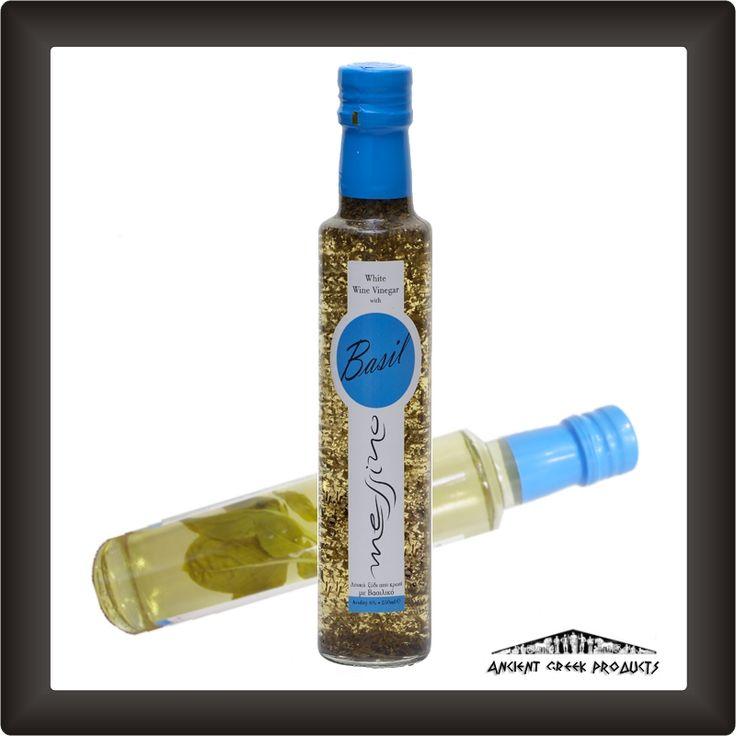 White wine vinegar with basil Messino PAPADEAS 250 ml.Place:  KALAMATA, Messenia