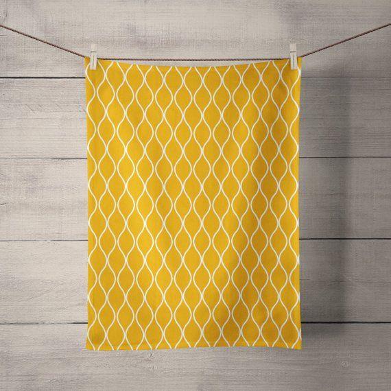 Mustard Kitchen Tea Towels Mustard Yellow Kitchen Decor Yellow