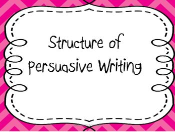 A short Writer's Workshop mini lesson based on the structure of persuasive writing. Can be used when introducing this writing genre. Outlines different parts of persuasive texts and includes a guide to laying out persuasive writing, sample persuasive text highlighting various parts of the text and questions for class discussion.