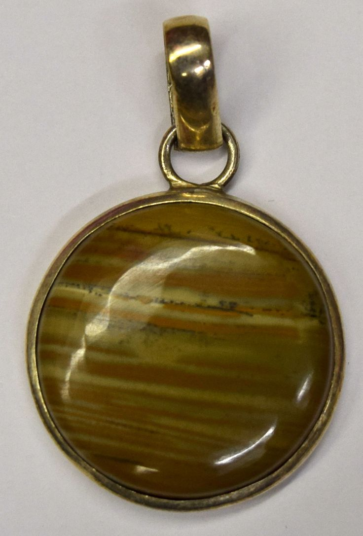 Vintage Silver and Andradite Gemstone Pendant