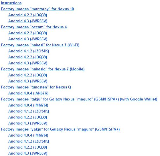 How to install Android 4.3 update to Nexus 4, Nexus 7 and Nexus 10 - http://www.intellectdigest.in/how-to-download-and-install-android-4-3-jelly-bean-on-nexus-devices-3403/
