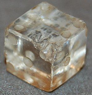 NICE! Game die of rock crystal, marked one to six, dated1st-2nd Century AD. Roman Imperial Period. via the British Museum.