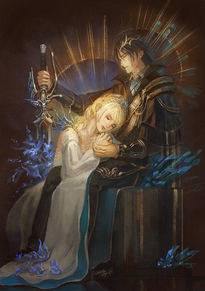 Athena On Twitter Final Fantasy Artwork Noctis And Luna Final Fantasy