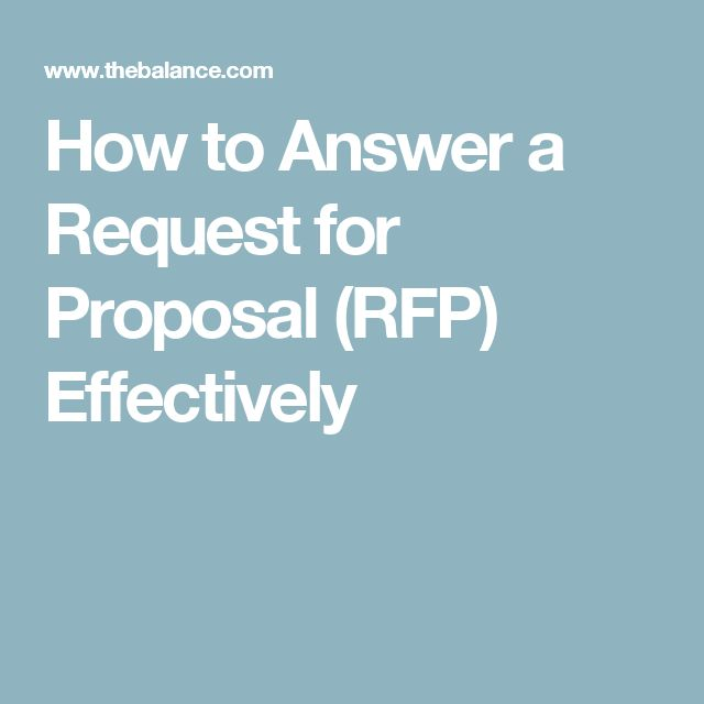 How to Answer a Request for Proposal (RFP) Effectively