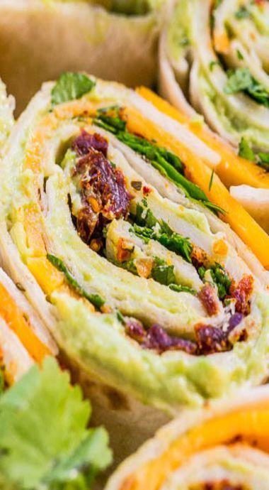 Chipotle Cheddar Avocado Rollups