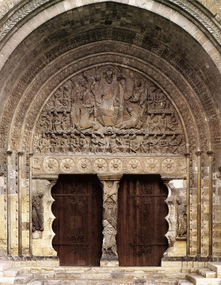 General view of the south portal of Saint-Pierre, Moissac, France, ca. 1115-1135.