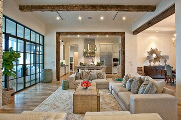 Cat Mountain Residence - transitional - Living Room - Austin - Cornerstone Architects