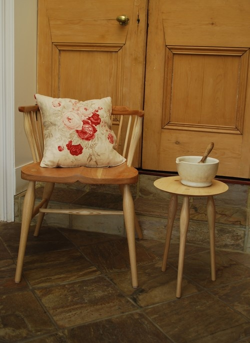 Cherry Half-Windosr and Maple side table (small)