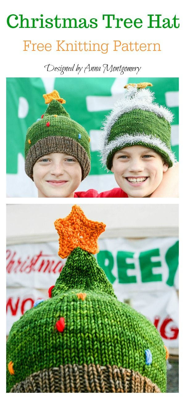 Christmas Tree Hat Free Knitting Pattern  freeknittingpattern   christmasgifts  hats 79e91500059