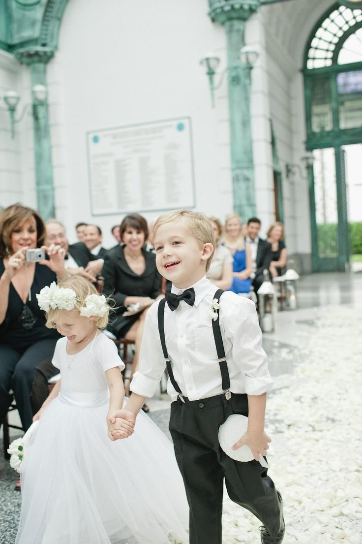 A Palm Beach Wedding. Cutest flower girl and ring bearer!