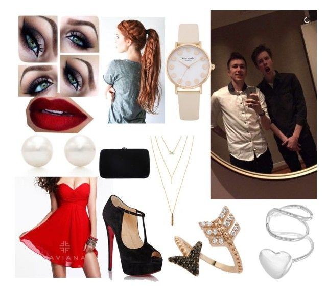 """""""Sidemen Outfit Imagines #21 Vegas!!!"""" by supimnotcool ❤ liked on Polyvore featuring Tiffany & Co., Faviana, Bee Goddess, Christian Louboutin, Jules Smith, Sergio Rossi, calfreezy, sidemen and miniminter"""