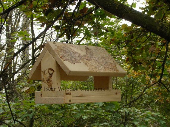 Birdfeeder for small birds handmade and by BearWoodenCreations