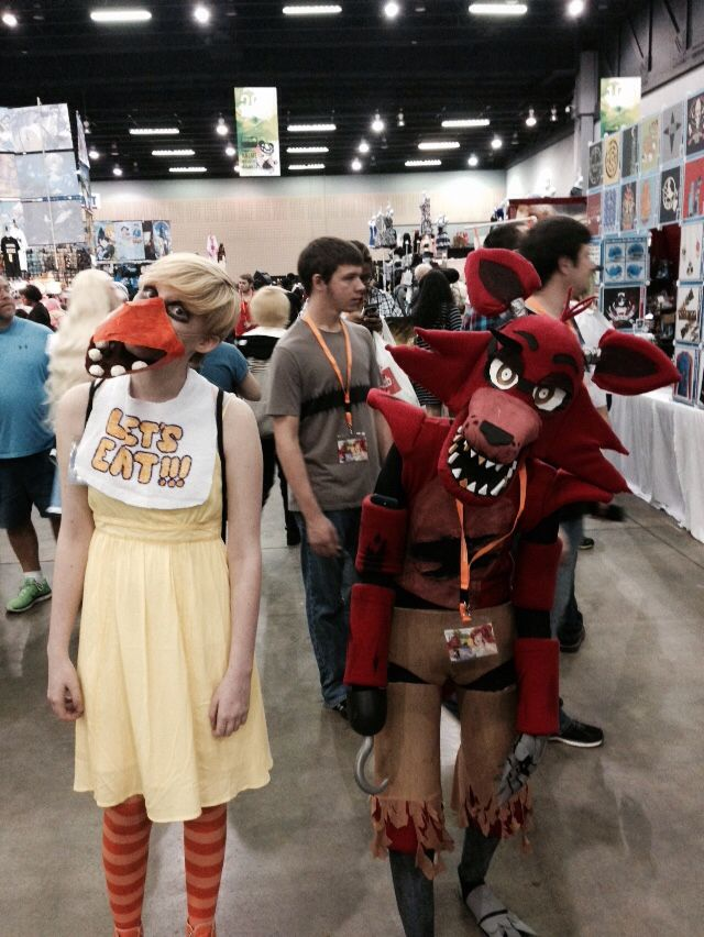 Cosplay night and five nights at freddy s on pinterest