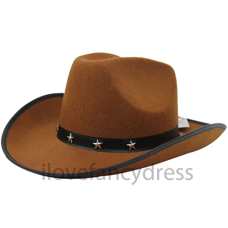 STUDDED COWBOY HAT WILD WEST TRAMPAS WESTERN COWGIRL FANCY DRESS ADULT STETSON